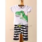 ชุดเสื้อกางเกง-Dinosaur-Summer-สีขาว-(5ตัว/pack)