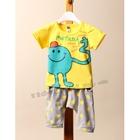 ชุดเสื้อกางเกง-Metictck-สีเหลือง-(5ตัว/pack)