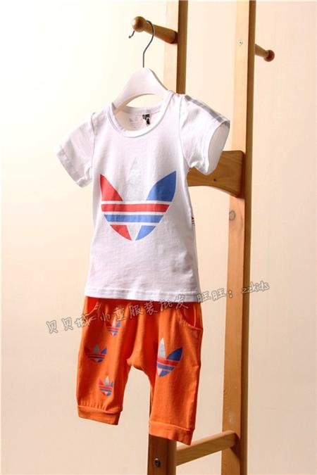 ชุดเสื้อกางเกง Adidas สีส้ม (5ตัว/pack)