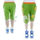 กางเกงขาสามส่วนการ์ตูนเริงร่าสีเขียว-(5size/pack)