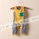 ชุดเสื้อกางเกงกระเป๋าซ้อน-สีเหลือง-(5ตัว/pack)