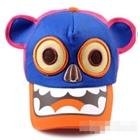 หมวกแก๊ปกะโหลกหมี-สีน้ำเงิน-(5ชิ้น/แพ็ค)