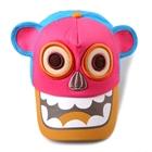 หมวกแก๊ปกะโหลกหมี-สีชมพูเข้ม-(5ชิ้น/แพ็ค)