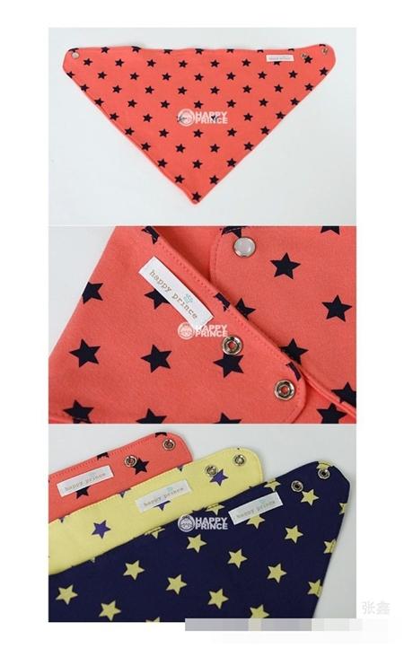 ผ้าพันคอสามเหลี่ยมลายดาว คละสี (6 ชิ้น/pack)
