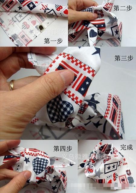 ผ้าพันคอผูกสามเหลี่ยมลายแฟนซี คละลาย (20ชิ้น/pack)
