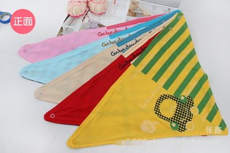 ผ้าพันคอสามเหลี่ยมลายรถเต่า คละสี(10 ชิ้น/pack)