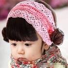 ผ้าคาดหัวปอยผมม้า-สีชมพู-(5ชิ้น/แพ็ค)
