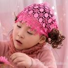 ผ้าคาดหัวผมหน้าม้าปอยม้วน-สีชมพูเข้ม-(5-ชิ้น/แพ็ค)