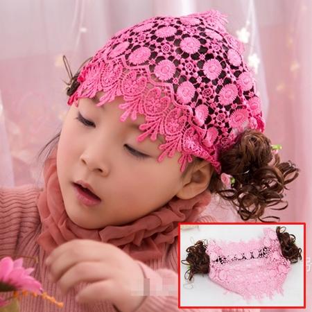ผ้าคาดหัวผมหน้าม้าปอยม้วน สีชมพู (5 ชิ้น/แพ็ค)