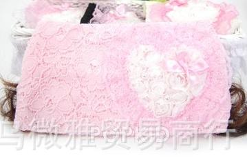 ผ้าคาดหัวปอยผมกุหลาบ สีชมพู (10 ชิ้น/แพ็ค)