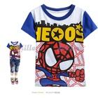 เสื้อยืดแขนสั้น-Spiderman-สีขาว-(6size/pack)