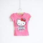 เสื้อแขนสั้น-Kitty-USA-สีชมพู-(5ตัว/pack)