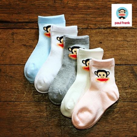 ถุงเท้าเด็ก Paul Frank คละสี (20 คู่ /pack)