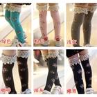 ถุงเท้าเด็กแบบยาวลายดอกไม้-คละสี-(20-คู่-/pack)