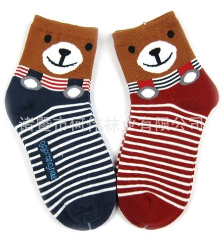 ถุงเท้าเด็กหมีเอี๊ยม คละสี (20 คู่ /pack)