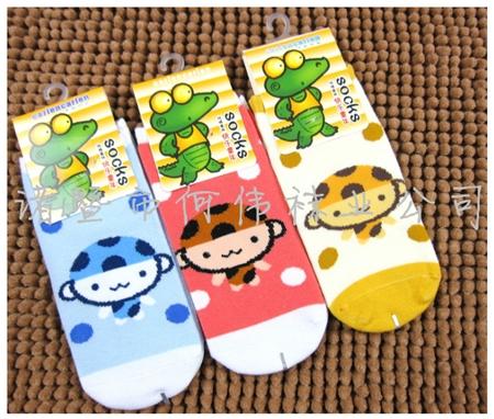 ถุงเท้าเด็กลายลิงน้อย คละสี (20 คู่ /pack)