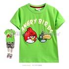 เสื้อยืดแขนสั้น-Angry-Bird-สีเขียว--(5size/pack)