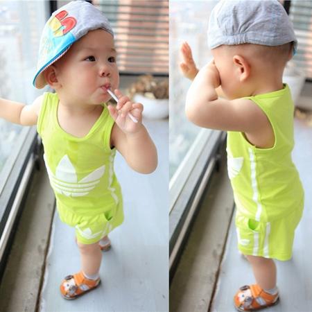 ชุดเสื้อกางเกง ADIDAS mini สีเหลือง (5ตัว/pack)