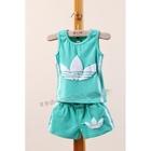 ชุดเสื้อกางเกง-ADIDAS-mini-สีเขียว-(5ตัว/pack)