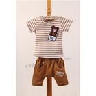 ชุดเสื้อกางเกงคุ้กกี้หมีน้อย-สีน้ำตาล(5ตัว/pack)