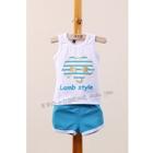 ชุดเสื้อกางเกง-LAMP-STYLE-สีฟ้า-(5ตัว/pack)