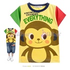 เสื้อยืดแขนสั้นลิงน้อยน่ารัก-สีเหลือง-(5size/pack)