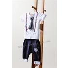 ชุดเสื้อกางเกงผูกไท-สีขาว-(5ตัว/pack)