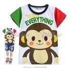 เสื้อยืดแขนสั้นลิงน้อยน่ารัก-สีขาว-(5size/pack)