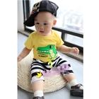 ชุดเสื้อกางเกง-Dino-Summer-สีเหลือง-(5ตัว/pack)