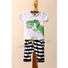 ชุดเสื้อกางเกง-Dino-Summer-สีขาว-(5ตัว/pack)