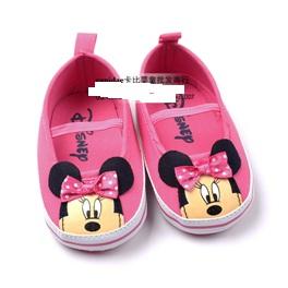 รองเท้าเด็ก-Minnie-Mouse-สีชมพู-(3-คู่/แพ็ค)