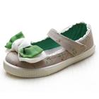 รองเท้าเด็กโบว์ใหญ่-สีเขียว(6-คู่/แพ็ค)