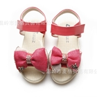 รองเท้าเด็กโบว์สองชั้น-สีแดง-(5-คู่/แพ็ค)
