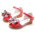 รองเท้าเด็กโบว์จุด-สีชมพูโรส-(5-คู่/แพ็ค)
