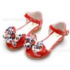 รองเท้าเด็กโบว์จุด-สีแดงแตงโม-(5-คู่/แพ็ค)