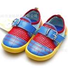 รองเท้าเด็กผ้าใบเด็กตาข่ายหลากสี-สีแดง(4-คู่/แพ็ค)