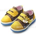 รองเท้าผ้าใบเด็กวัวน้อย-สีน้ำตาลเหลือง(6-คู่/แพ็ค)