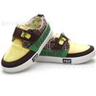 รองเท้าผ้าใบเด็กหมาน้อย-สีน้ำตาลเหลือง(6-คู่/แพ็ค)