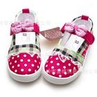 รองเท้าเด็กลายจุดเก๋ไก๋-สีชมพูโรส-(6-คู่/แพ็ค)