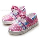 รองเท้าเด็กลายจุดเก๋ไก๋-สีชมพู-(6-คู่/แพ็ค)