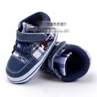 รองเท้าผ้าใบเด็กคนขี่ม้า-สีฟ้า-(6-คู่/pack)