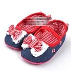 รองเท้าเด็กผีเสื้อและโบว์ใหญ่-(6-คู่/pack)