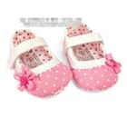 รองเท้าเด็กลายจุดประดับดอกไม้-สีชมพู-(6-คู่/pack)