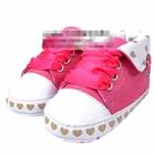 รองเท้าผ้าใบดอกไม้เล็ก-สีชมพู-(6-คู่/pack)