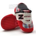 รองเท้าผ้าใบลายตาราง-สีแดงชมพู-(6-คู่/pack)