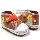 รองเท้าผ้าใบลายตาราง-หมีพูลล์-สีน้ำตาล(6-คู่/pack)