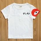 เสื้อยืดแขนสั้นPLAY-Comme-หัวใจสีแดง-(5size/pack)