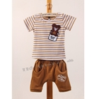 ชุดเสื้อกางเกง-Teddy-Bear-สีน้ำตาล-(5ตัว/pack)