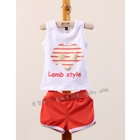 ชุดเสื้อกางเกง-Lamp-Style-สีแดง-(5ตัว/pack)