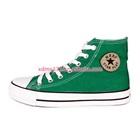 รองเท้าผ้าใบทรงสูง-Star-สีเขียว-(7-คู่/แพ็ค)
